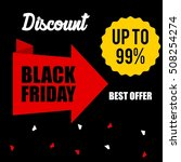 black friday discount sale... | Shutterstock .eps vector #508254274