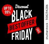black friday discount sale... | Shutterstock .eps vector #508254286
