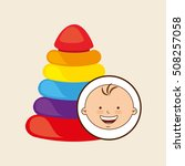 happy baby toy design graphic...