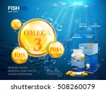 fish oil ads template  omega 3... | Shutterstock .eps vector #508260079