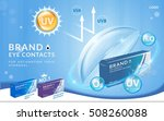 eye contacts ads template  uv... | Shutterstock .eps vector #508260088