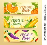 veggie lover elements   vector... | Shutterstock .eps vector #508262128