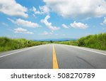 the straight road at the clear...   Shutterstock . vector #508270789