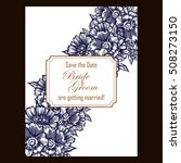 invitation with floral... | Shutterstock .eps vector #508273150