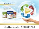 infant formula advertisement ... | Shutterstock .eps vector #508280764