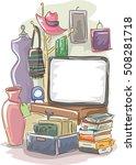 garage sale illustration... | Shutterstock .eps vector #508281718