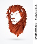 lion head designed using red... | Shutterstock .eps vector #508288516