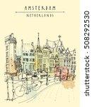bridge in amsterdam  holland ...   Shutterstock .eps vector #508292530