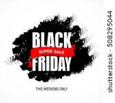 black friday sale best design...   Shutterstock .eps vector #508295044