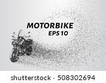 motorcycle of the particles.... | Shutterstock .eps vector #508302694