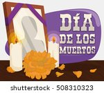 poster with traditional altar... | Shutterstock .eps vector #508310323