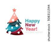christmas geometric banner ... | Shutterstock .eps vector #508311544