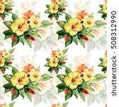 pattern seamless  of yellow and ... | Shutterstock . vector #508312990