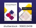 business a4 annual report... | Shutterstock . vector #508313458