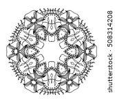 black and white hexagonal... | Shutterstock .eps vector #508314208