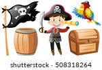 pirate set with pirate and... | Shutterstock .eps vector #508318264