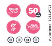 sale bag tag icons. discount... | Shutterstock .eps vector #508319728