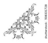 vintage baroque corner scroll... | Shutterstock .eps vector #508331728