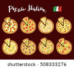 vector set hand drawn slices of ... | Shutterstock .eps vector #508333276