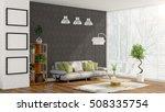 modern bright interior . 3d... | Shutterstock . vector #508335754