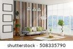 modern bright interior . 3d... | Shutterstock . vector #508335790