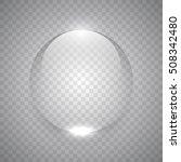 water drop on transparent... | Shutterstock .eps vector #508342480