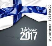 welcome 2017 finland | Shutterstock . vector #508346620