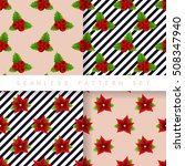 christmas seamless pattern set  ... | Shutterstock .eps vector #508347940