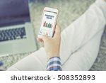 business charts and graphs on... | Shutterstock . vector #508352893
