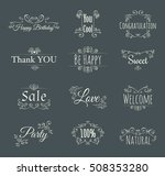 collection of vintage frame... | Shutterstock .eps vector #508353280