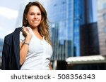 beautiful businesswoman... | Shutterstock . vector #508356343