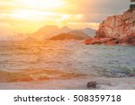sea and mountain landscape with ... | Shutterstock . vector #508359718