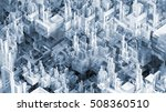 abstract future city scape 3d... | Shutterstock . vector #508360510