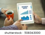 business charts and graphs on... | Shutterstock . vector #508363000