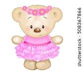 vector illustration of cute bear | Shutterstock .eps vector #508367866