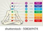 human energy chakra system ... | Shutterstock .eps vector #508369474