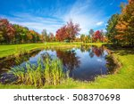 adorable oval pond in the... | Shutterstock . vector #508370698