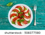 delicious caprese salad with... | Shutterstock . vector #508377580