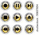 media buttons | Shutterstock .eps vector #50837854