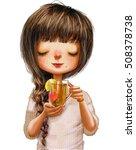 cute cartoon girl | Shutterstock . vector #508378738