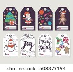christmas and new year gift... | Shutterstock .eps vector #508379194