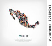 people map country mexico vector | Shutterstock .eps vector #508384066
