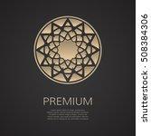 golden flower shape. gradient... | Shutterstock .eps vector #508384306