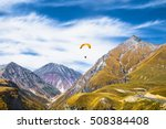 paragliding over mountains of... | Shutterstock . vector #508384408