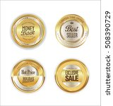 golden metal labels retro... | Shutterstock .eps vector #508390729