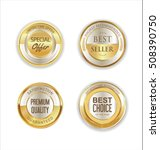 golden metal labels retro... | Shutterstock .eps vector #508390750