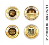 golden metal labels retro... | Shutterstock .eps vector #508390756