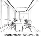 interior outline sketch drawing ... | Shutterstock .eps vector #508391848