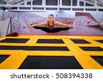 young sportsman jumping on a... | Shutterstock . vector #508394338