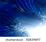 abstract flowing blue... | Shutterstock . vector #50839897